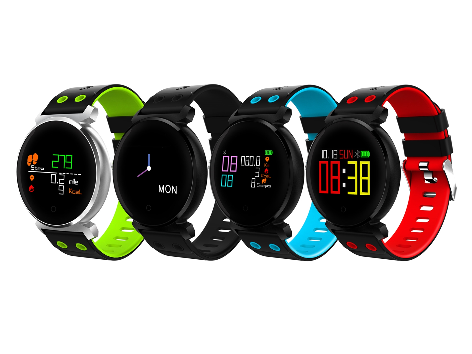 K2 smart watch,IP68 waterproof,heart arate&blood pressure&blood oxygen